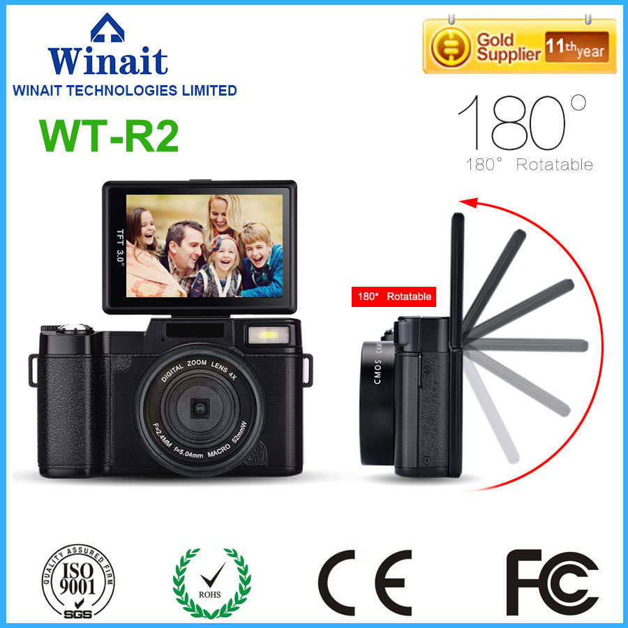 "Original Chinese DSLR Camera WT-R2 Max 24MP Shooting HDD/Flash Memory 800mA Lithium Battery Cameras 3.0"" 1080P HD Video Recorder"