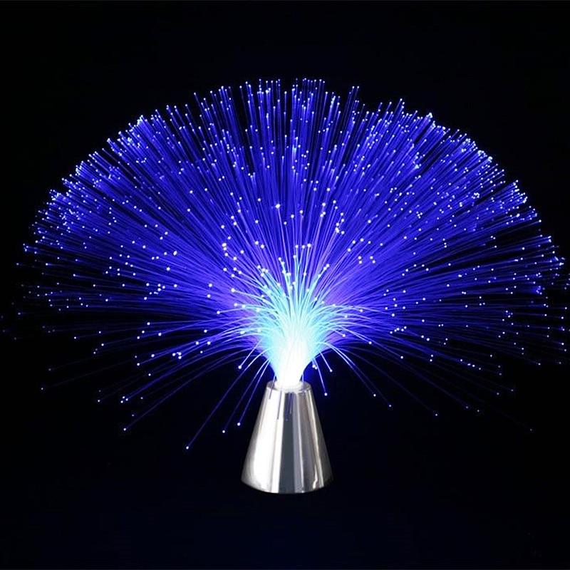 Multicolore Stand Led Veilleuse Lampe Claite Lumière Optique Fiber HIED2W9