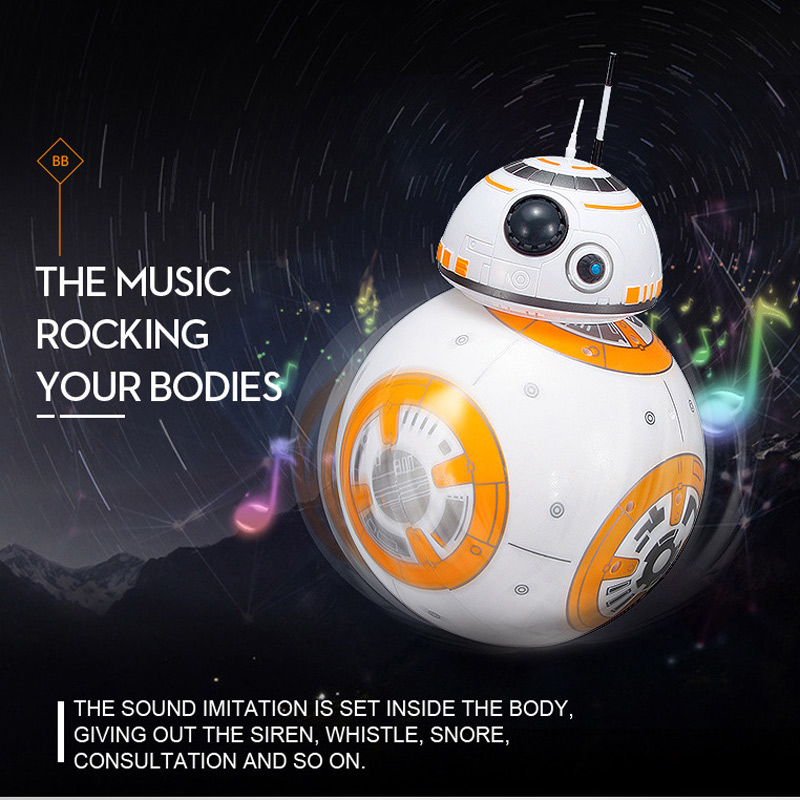 20.5cm Star Wars <font><b>RC</b></font> BB-8 <font><b>Robot</b></font> Upgrade Remote Control <font><b>BB8</b></font> <font><b>Robot</b></font> Intelligent with Sound Toy Come with opp bag image