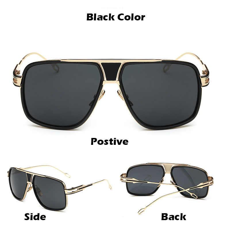 8aaa099bca2 ... 2018 New Fashion Big Frame Sunglasses Men Square Fashion Glasses for  Women High Quality Retro Sun ...