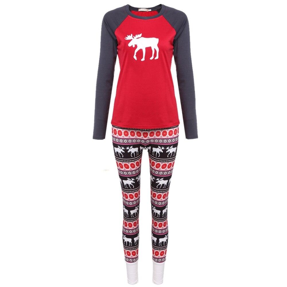 b037c15a18ce Горячих Женщин Рождество Классическая Животных Шаблон Пижамы Пижамы  Установить Моды купить на