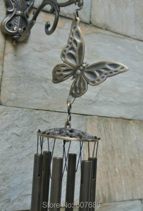 Windspiele Metall Messing Perlen Vögel hängen Glocken für Indoor-Garten