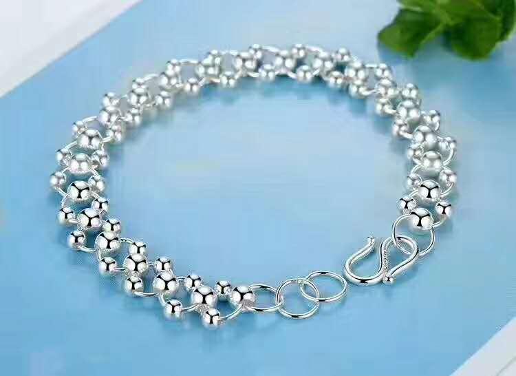 Sterling S990 silver Bracelets 990 beads Bracelet chain