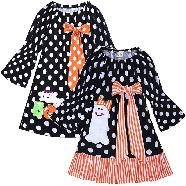 59be2ef371d5a US $6.13 7% OFF|Aliexpress.com : Buy Black Dot Baby Girl Dress Halloween  Ghost Costumes Girl's Clothes Children One Piece Dresses Kids Blouse Outfit  ...
