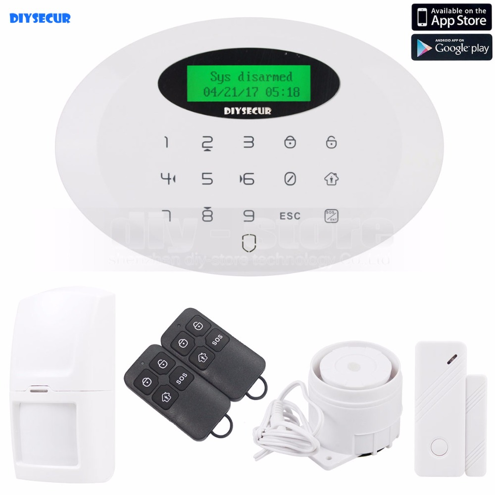 DIYSECUR 433MHz Wireless&wired GSM Burglar Intruder Alarm System With Touch KeypadDIYSECUR 433MHz Wireless&wired GSM Burglar Intruder Alarm System With Touch Keypad
