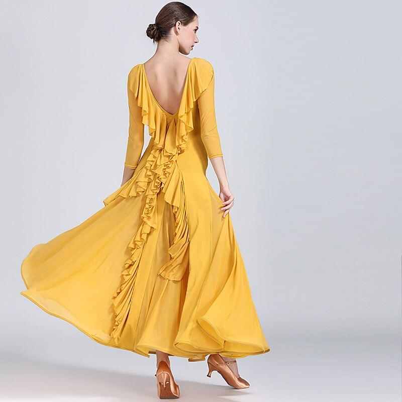 2019 Fashion Sexy Lady Ballroom Dance Competition Dresses Women Standard Ballroom Waltz Dress Waltz Tango Costume