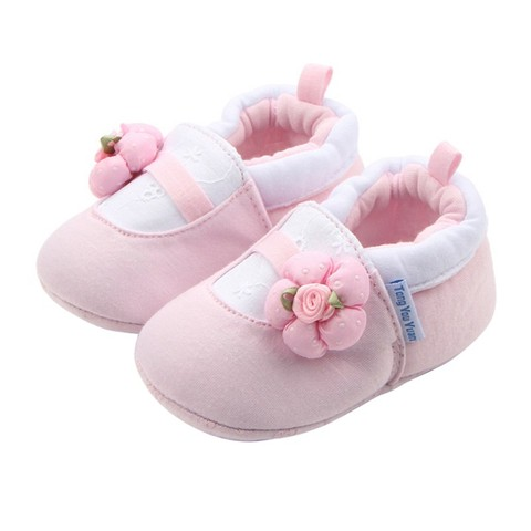 2018 New Baby Girl Shoes White Lace Floral Embroidered Soft Shoes Prewalker Walking Toddler Kids Shoes Pakistan