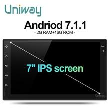 Uniway AWD7071 2G + 16G 2 din android auto dvd für nissan qashqai x-trail almera pathfinder teana hinweis juke multimedia gps-player