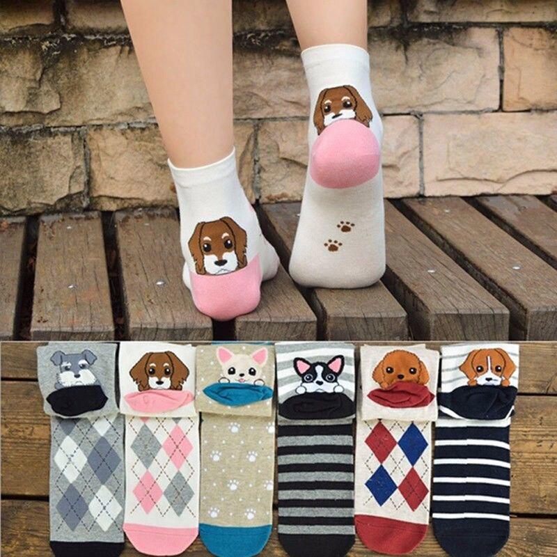 1 pair HOT 3D Printed heel Puppy   Socks   Women Unisex Cute Ankle   Socks   Multiple Colors Women   Sock   Casual dog Animal Shape   Socks
