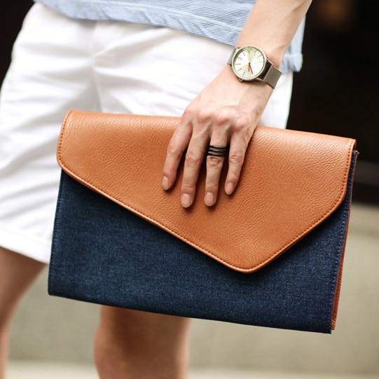 New Brand Solid Design Canvas & PU Leather Men Handbags File Men Bags Casual Men Envelope Clutch Vintage Ipad Men Messenger Bag casual canvas satchel men sling bag