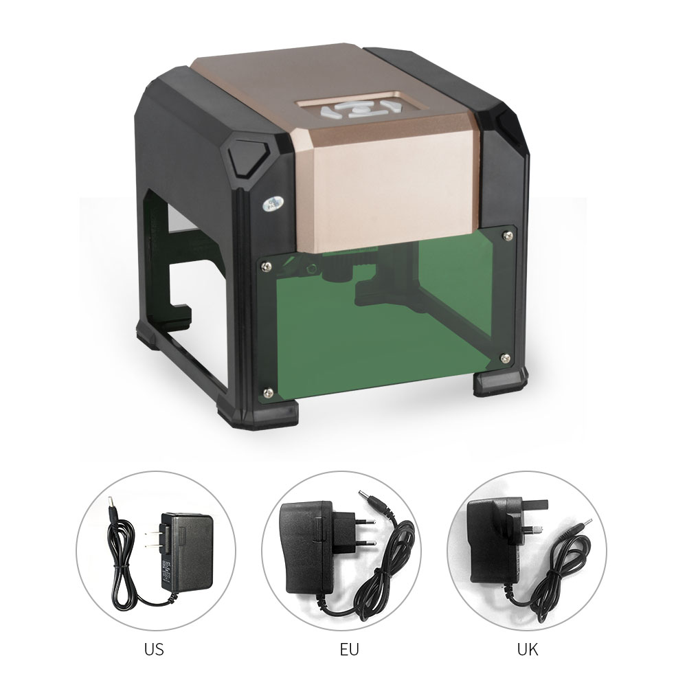 3000mW Automatic K5 Type High Speed Laser Engraving Machine CNC USB DIY Carving Handicraft Wood Routers