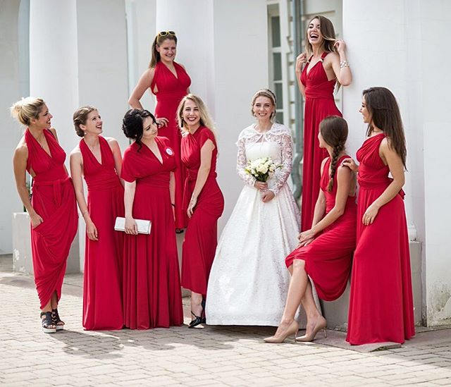 2019   Bridesmaid     dress   infinity red   bridesmaid   convertible red maxi Floor Lengthmultiway   dresses