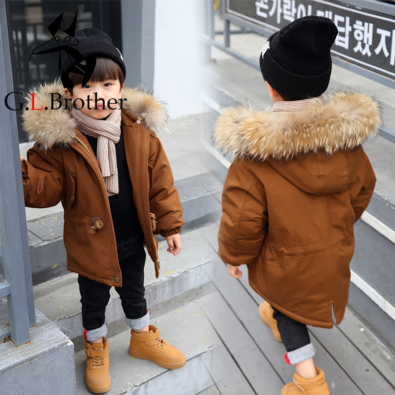 Russia Winter Coats For Kids Boys Outwear Jacket Snow Wear Fur Collar Thick Warm Children Parkas Down Cotton Padded Boy Overcoat winter jacket female parkas hooded fur collar long down cotton jacket thicken warm cotton padded women coat plus size 3xl k450