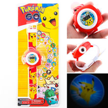 [TOOL] Pocket Monster Pokemon go magic Picacho projection electronic watch for children cartoon Watch S17101204(China)