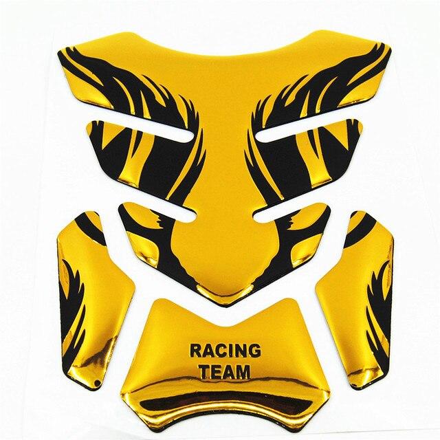 Tigre de ouro Da Motocicleta Etiqueta da Fibra do Carbono Tanque Pad TankPad Protector Decalque Do Tanque de Combustível Cap Gas Tampa Pad King Kong Hornet