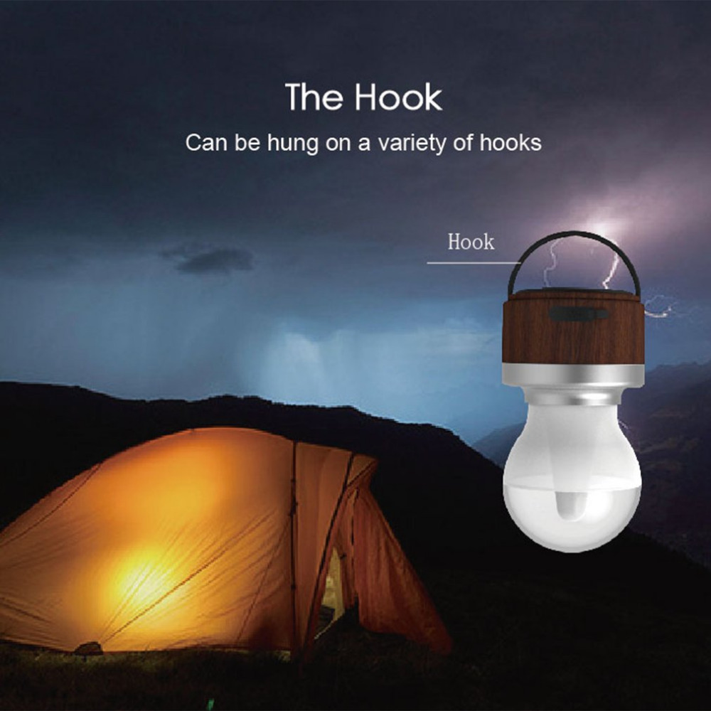 Emergency Light USB Chargeable IR Sensor Camping Lantern Super Bright Waterproof Outdoor Night Light Portable LED Lamp