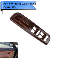 For VW Jetta Golf 4 MK4 Passat B5 Wood Pattern Car Interior Door Window Switch Panel Bezel Interruptor Handle Trim Set P493