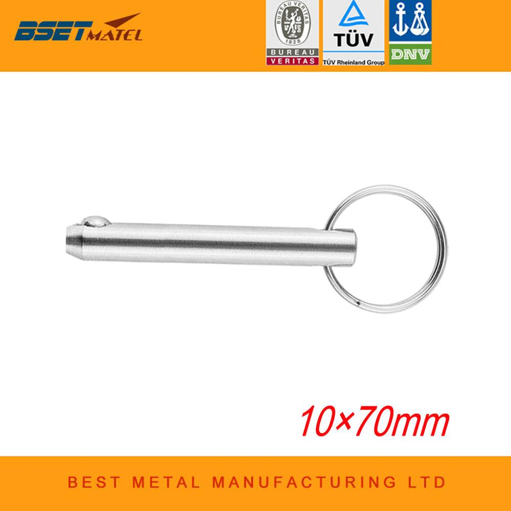 10*70mm BSET MATEL Stainless Steel 316 Marine Grade Quick Release Ball Pin for Boat Bimini Top Deck Hinge Marine Boat