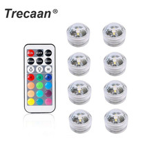 Battery Operated Waterproof RGB Submersible LED Light Underwater Night