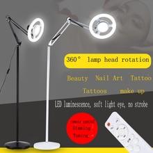 Photo beauté greffage cils semi permanent tatouage sourcil tatouage spécial LED lumière froide ombre beauté lampadaire