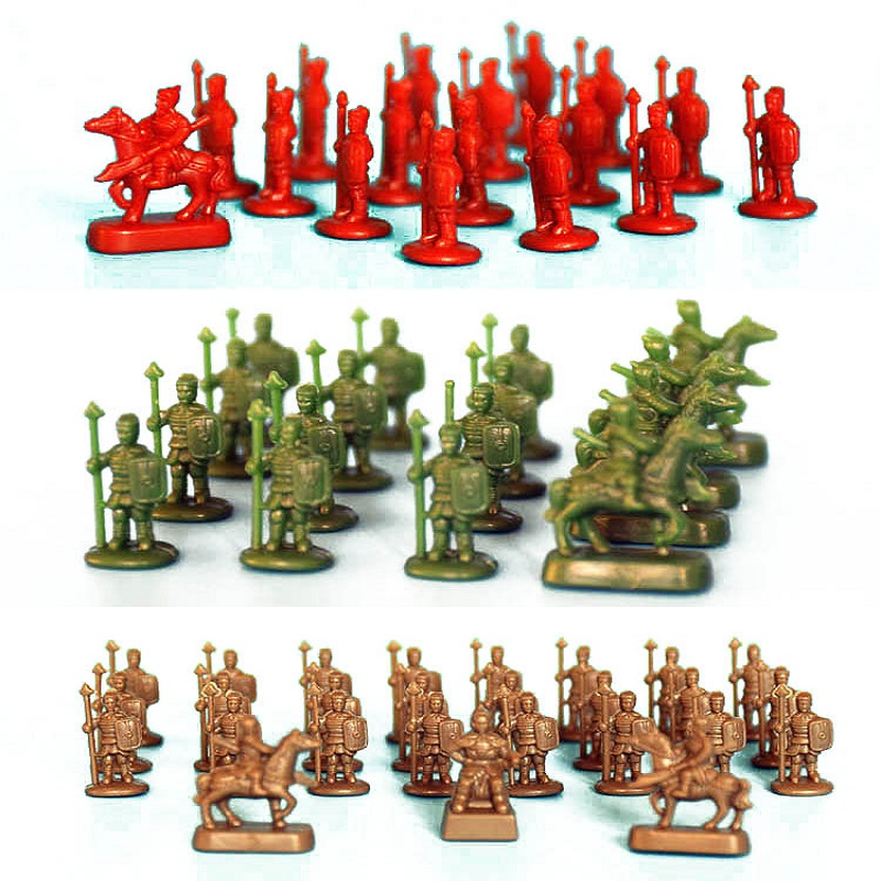 50pcs lot 1 120 Three Colors Model Ancient Wargame Soilders Completed Types War Fighters For Diorama DIY Sandtable Scene Making in Model Building Kits from Toys Hobbies