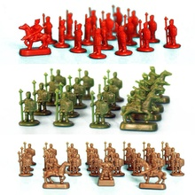 50pcs/lot 1:120 Three Colors Model Ancient Wargame Soilders Completed Types War Fighters For Diorama DIY Sandtable Scene Making