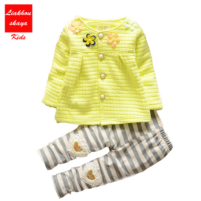 New Arrive  Baby Girls Clothes Kids Flower Clothing + Pants 2pcs Outfit Clothes Sets Children Tracksuit Set For Spring Autumn mz t10 5w 240lm 10 smd 5630 led white light car clearance tail lamps dc 12v 10 pcs