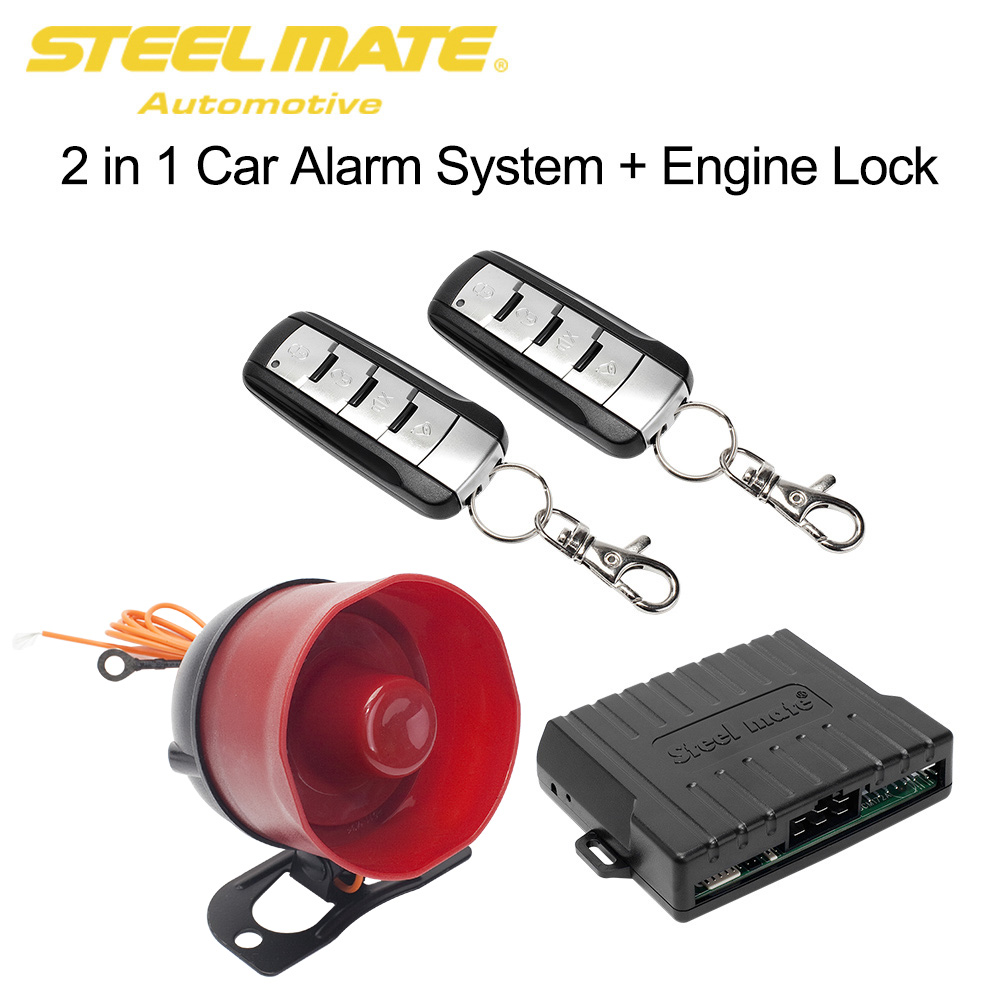 New Car Alarm 2 Door Remote Central Locking Kit With Shock Sensor Wiring Diagram System Auto Start Steelmate Sk02 Smart Engine Lock Control