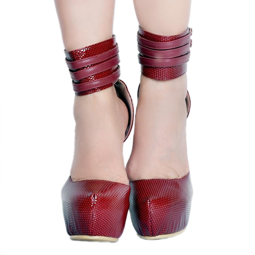 Punta Stiletto Sexy Nueva 5 15 Prom Red Yifsion Bombas Tamaño Rojo Vino Magníficos Más Zapatos Mujeres Estrecha Wine uu D0373 Plataforma Ee wSXqS0I