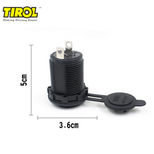 TIROL 12V Car Universal Waterproof Dual 2 USB Car Cigarettes Lighter Socket Splitter Charger Power Adapter Outlet 3.6cmX5cm