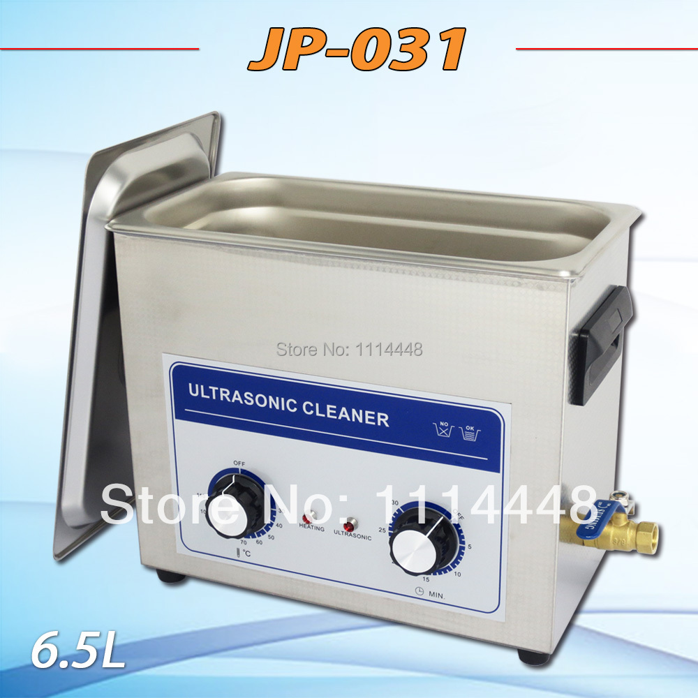 New 2014 Ultrasonic Cleaning Machine JP-031 6.5L 180W electronic components medical Ultrasonic Cleaner equipment W/ drain valve new arrival ultrasonic cleaning machine jp 010b jewellery cleaner ultrasonic 2l 220v