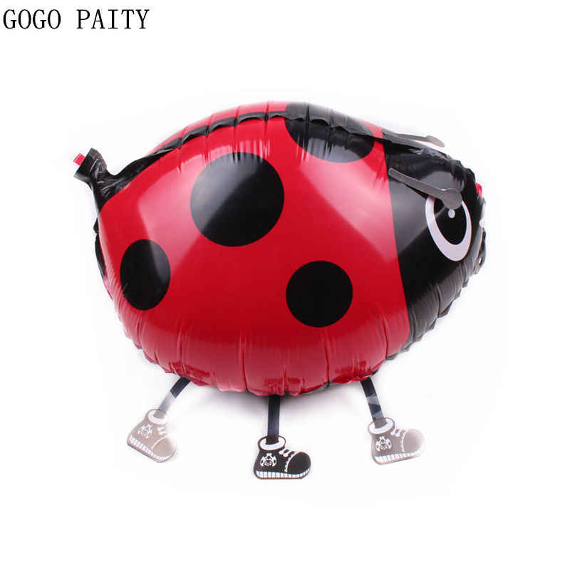 GOGO PAITY  New walk Beetle seven star ladybug aluminum balloon ball cartoon toys balloon wholesale from the closure