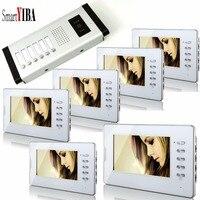 SmartYIBA 7 6 единиц дома/дом домофона мониторы Flatsinterphone визуальный домофон комплект Видеовызова для квартиры безопасности Системы