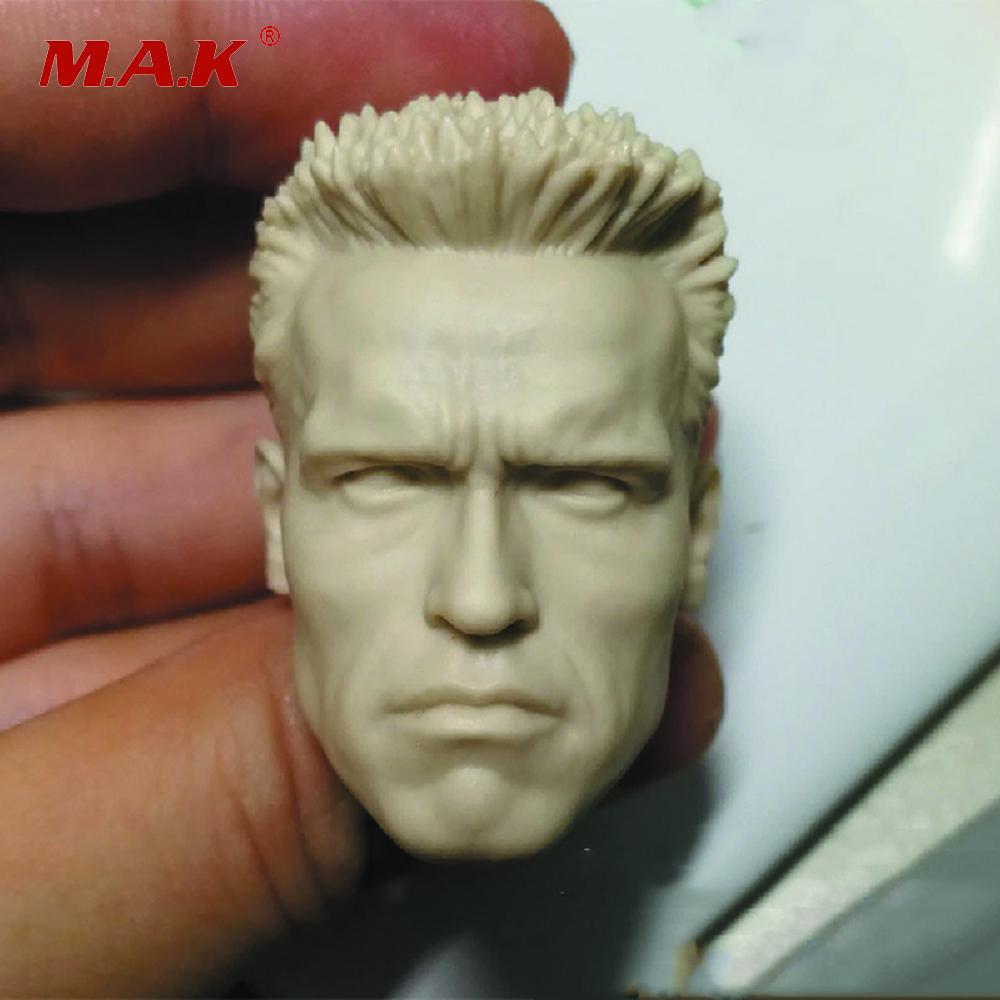 1:6 Scale Arnold Schwarzenegger Male White Head Sculpt Carving Model Suitable For 12