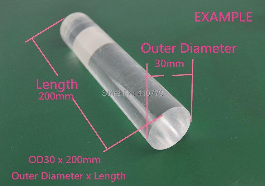3 THZ Acrylic Plexiglass Clear Rod (3)