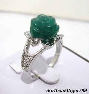 จัดส่งฟรีสีเขียวดอกกุหลาบขนาดแหวน: 7.8.9