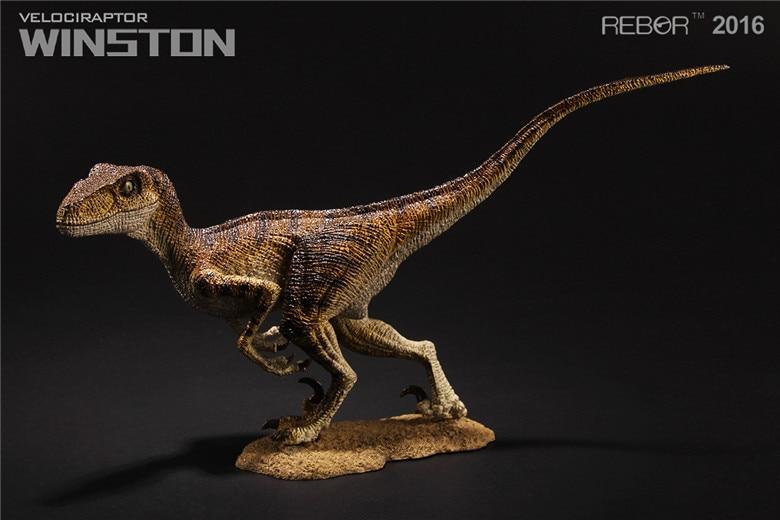 REBOR Velociraptor Winston PVC 1 18 Dinosaur Museum Class Model