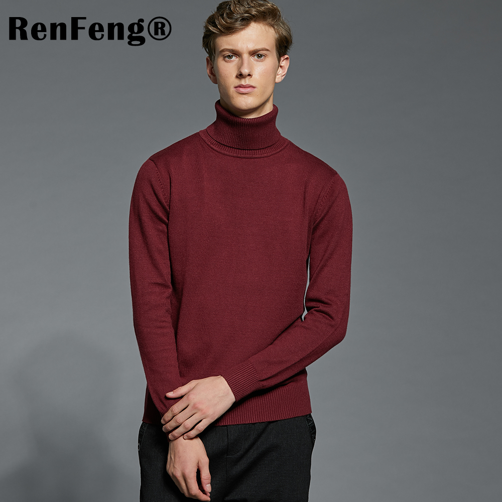 Winter Thick Warm Cashmere Sweater Men Turtleneck Mens Sweaters Plus Size Pullover Man Classic Wool Knitwear Thermal Pull Homme (11)