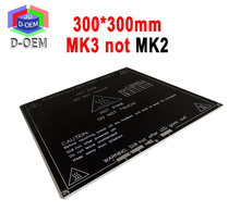 MK3 Heated Bed 12V 24V Parts For Reprap Mendel Heatbed Hot HotBed 3D Printers Part 300*300mm Aluminum Plate 3mm