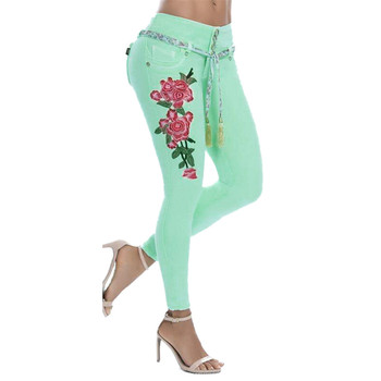 Embroidered Stretch Jeans  3