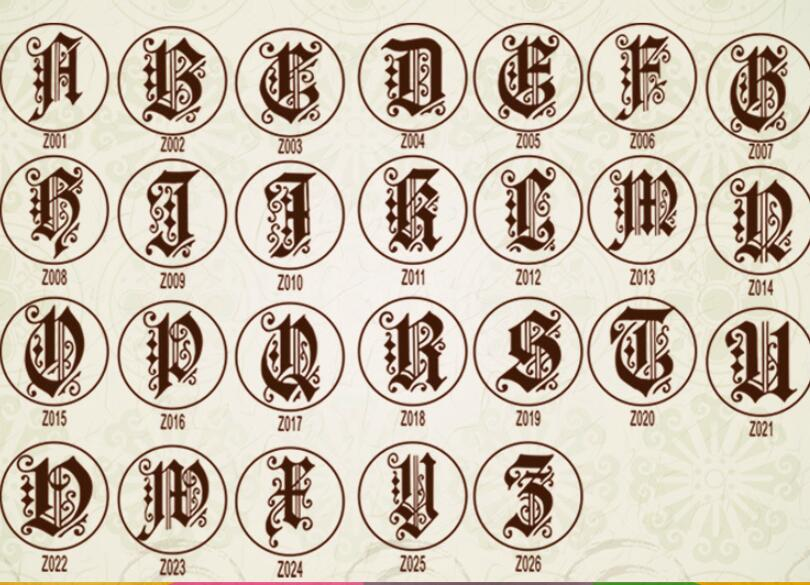 Wax Stamp Copper head Curlicue 26 Letters DIY Scrapbooking Vintage wax sealing stamp wedding/party invitation/envelop gift seal4