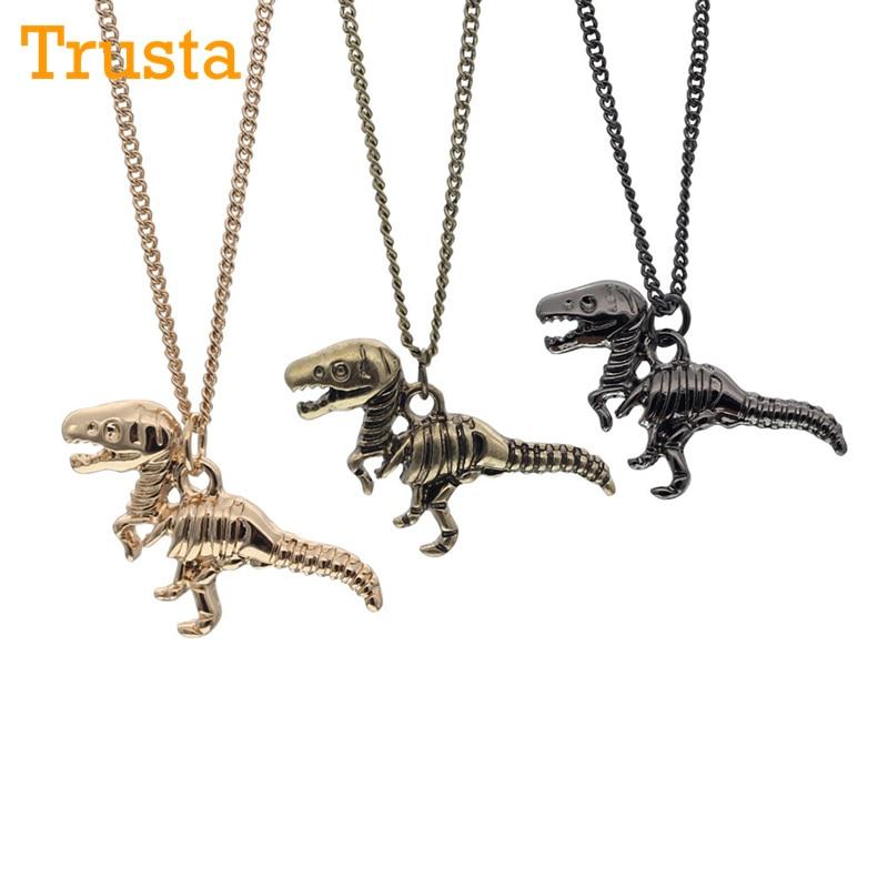 Trusta New Fashion Gold/Black/Bronze Tone Jewelry Dinosaur Pendant 16