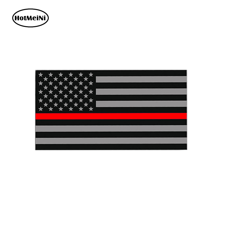 "PROUD AMERICAN FIREFIGHTER Highly Reflective American Flag 3/"" decal"