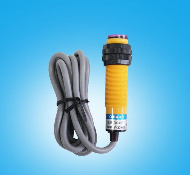 2PCS Photoelectric Switch E3F DS30N12 DC 4 Wire NPN NO+NC 30cm ...