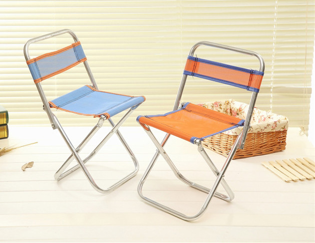 Outdoor Galvanized Pipe Fishing Chair Portable Folding Backrest Chair  Outdoor Barbecue Folding Stool High Quality