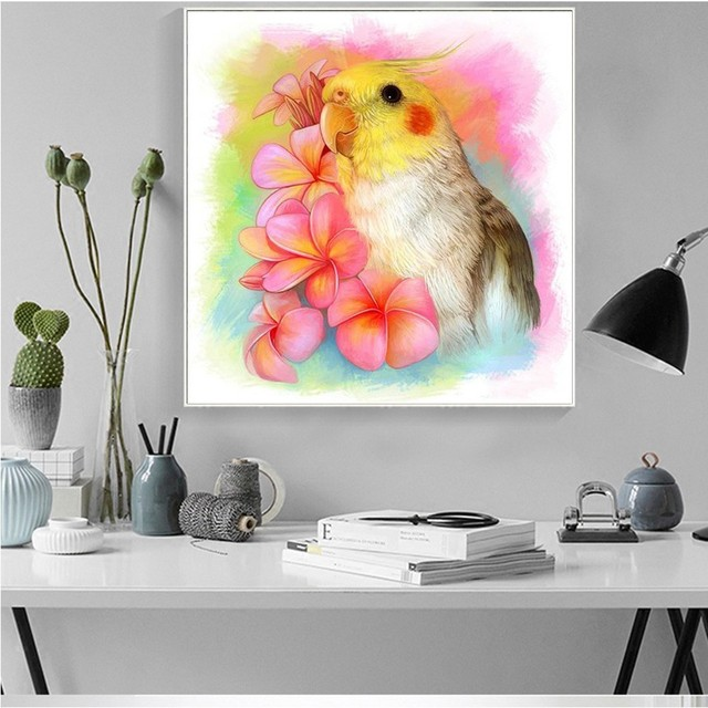 HUACAN 5D DIY Full Square Animal Bird Diamond Painting Embroidery Sale Diamond Mosaic Picture Of Rhinestone