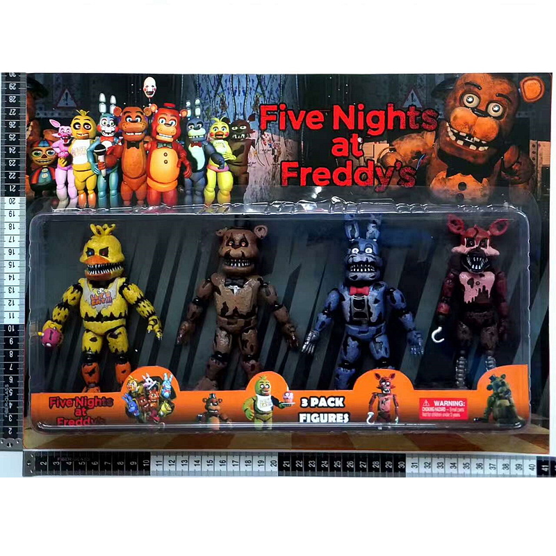 Horror Game Five Nights at Freddys Toys Action Figure Funtime Freddy Ballora Circus Babys Pizza World Figurine Gift For Boys