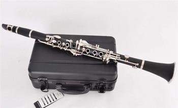 Bb Bakelite Clarinet Musical instruments 17 Keys clarinete Nickel Plated keys klarnet with ABS case