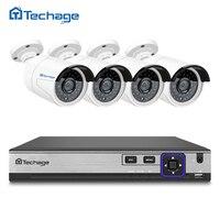 New H 265 4CH 48V POE NVR 4K CCTV System 4PCS 4 0MP POE IP Camera