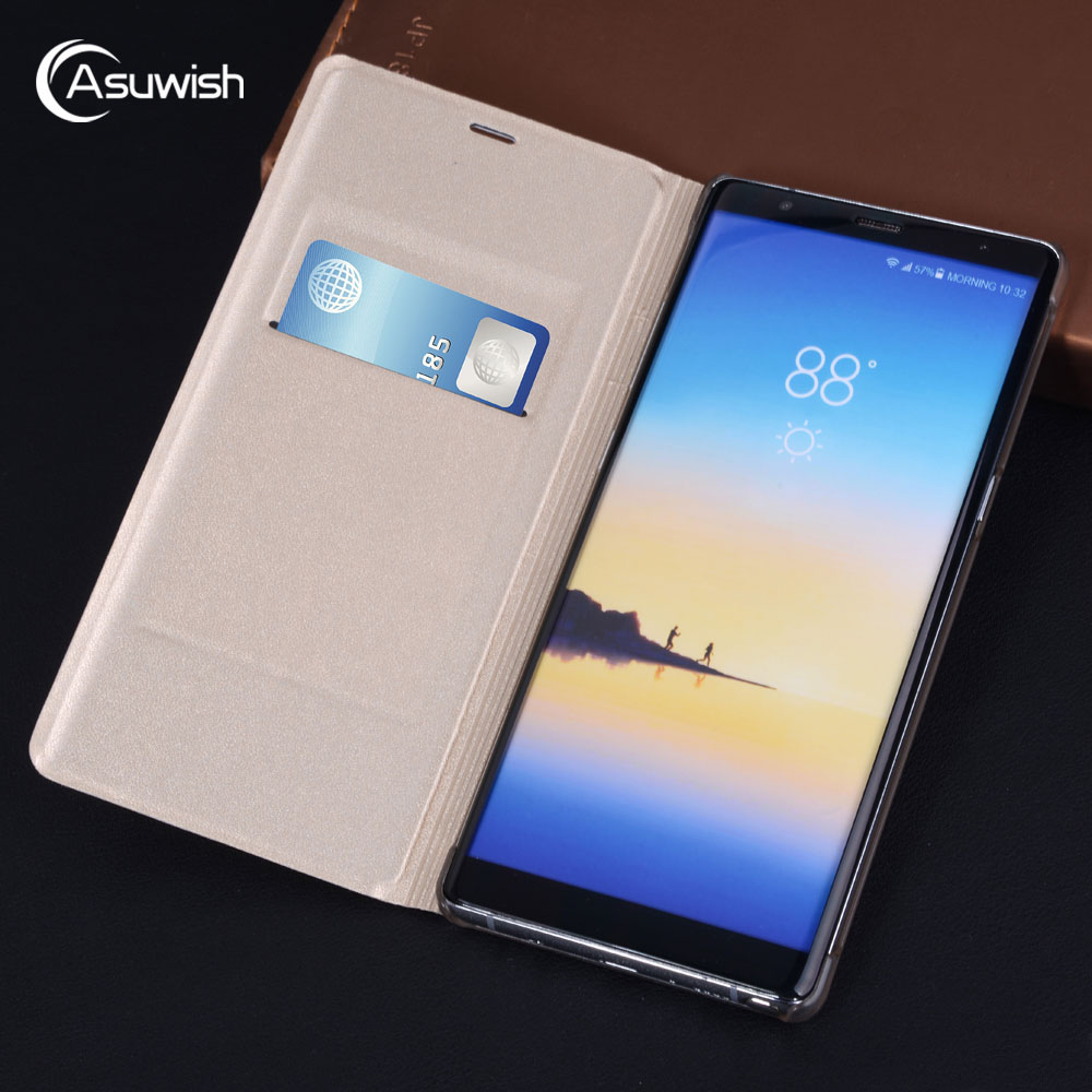 Asuwish Flip Cover Wallet Leather Case For Nokia 6 Nokia 5 Nokia 3 Nokia6 Nokia5 Nokia3 2017 Phone Case Cover Credit Card Bag